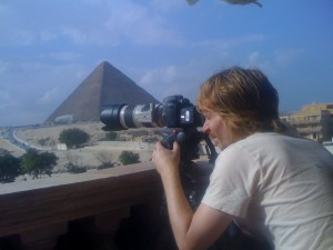 DP Davi Russo shoots the pyramids